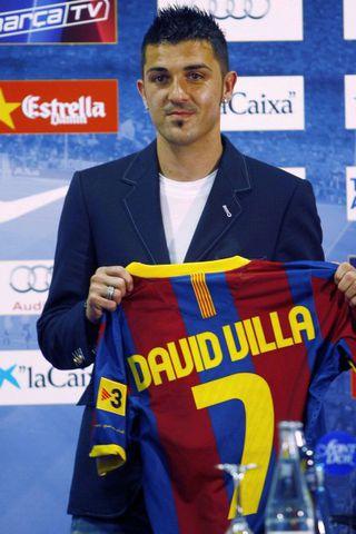 David Villa nýjasti leikmaður Barcelona.