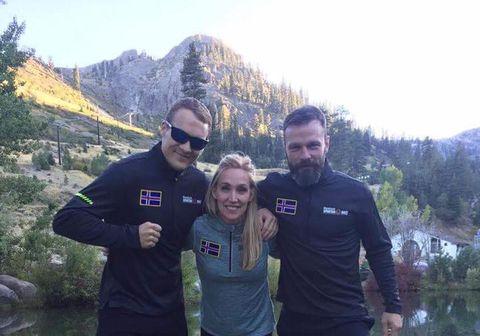 Íslenskir keppendur í Spartan Race við Lake Tahoe í byrjun október.