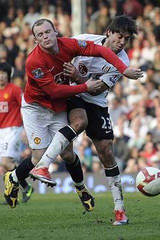 Rooney í leiknum í dag.