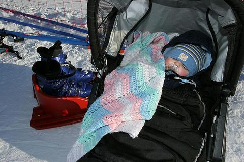 Babies often take nap outside in the cold.