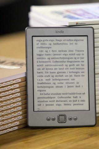 Kindle-lesvélin frá Amazon.