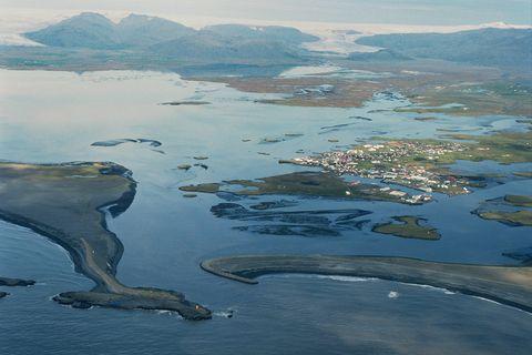 Hornafjarðarós,  Höfn , Hornafjörður 2002 / Sailing route into Hofn in Hornafjordur