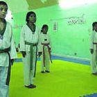 Á æfingu Systkinin Daniel og Sivia í Taekwondo-tíma í Mexíkó.