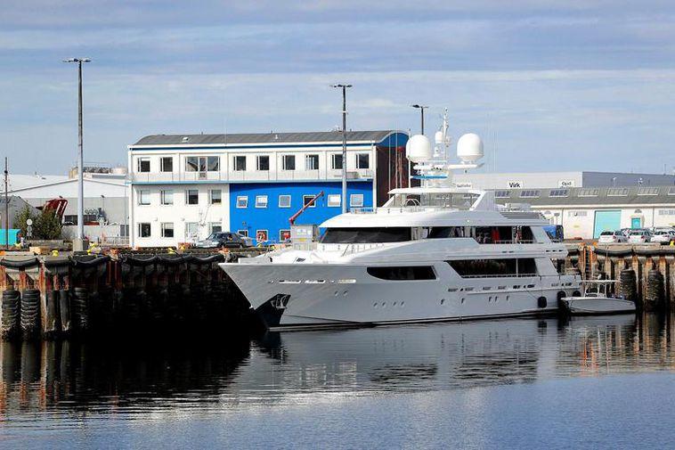 The Wabi Sabi moored in Reykjavik.