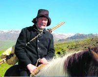 Faðirinn Þráinn Karlsson leikur Hallgrím, föður Jónasar.