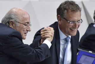 Sepp Blatter og Jerome Valcke.