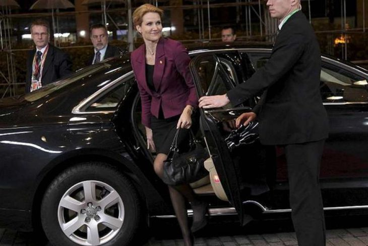 Denmark's Prime Minister Helle Thorning Schmidt arrives at an European Union summit in Brussels December ...