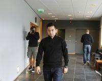 Nikolaj Olsen at the Reykjanes district court this morning.