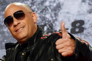 Vin Diesel á frumsýningu Fate of the Furious í Berlín.