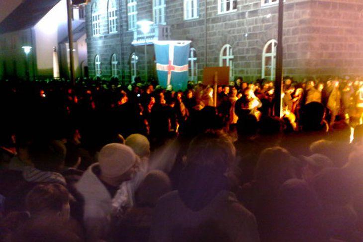 Mótmæli við Alþingi 20. janúar 2009