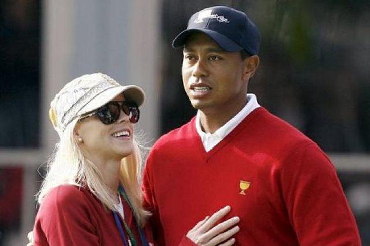 Elin Nordegren og Tiger Woods.