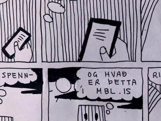 Myndasögusýningin Bára Blöndal og demanturinn