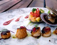 This scallop dish from Sjávarpakkhúsið brings exotic flavours to a local ingredient.