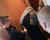 Thomas Møller Olsen at court this morning.