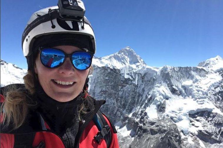 Vilborg Arna Gissurardóttir at Mount Everest.
