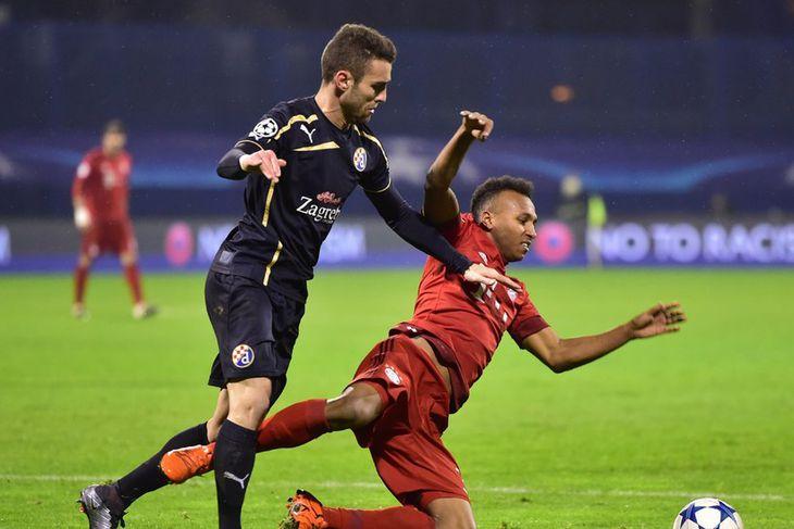 Ivo Pinto, til vinstri, er kominn til Norwich frá Dinamo Zagreb. Hann er 26 ára ...