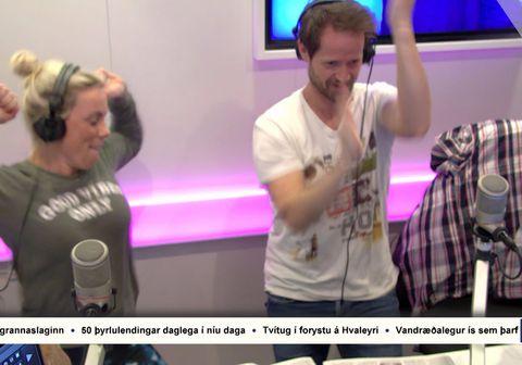 Þóra og Jói stigu trylltan dans í morgun.