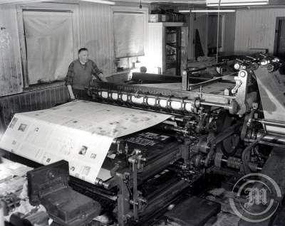 Prentsmiðja Morgunblaðsins árið 1953