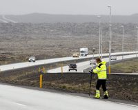 Travellers are urged to take care when driving along the Reykjanesbraut road between Keflavik International Airport and Reykjavik