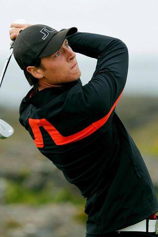 Axel Bóasson stóð sig vel á Jyske Bank PGA mótinu.
