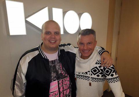 Siggi Gunnars og Páll Óskar á K100 í morgun.