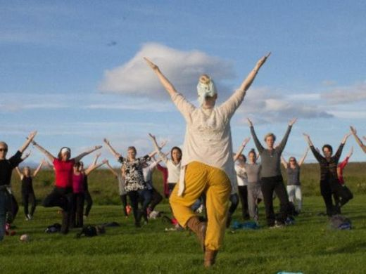 Yoga and gong relaxation on Viðey Island