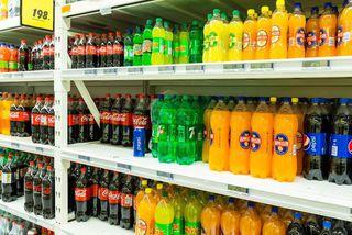Fjölbreytt framboð er af sykruðum drykkjum.