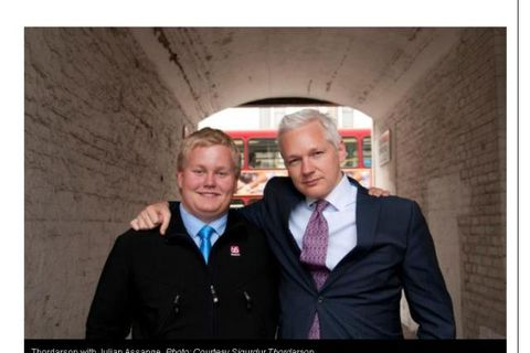 "Siggi ""The Hacker"" on the left with Julian Assange."
