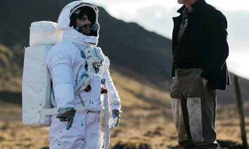 Jason Schwarzman plays an astronaut and Ingvar E.Sigurðsson an Icelandic sheep farmer.