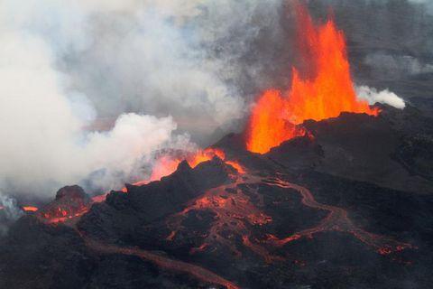 Bárðarbunga erupting last year.