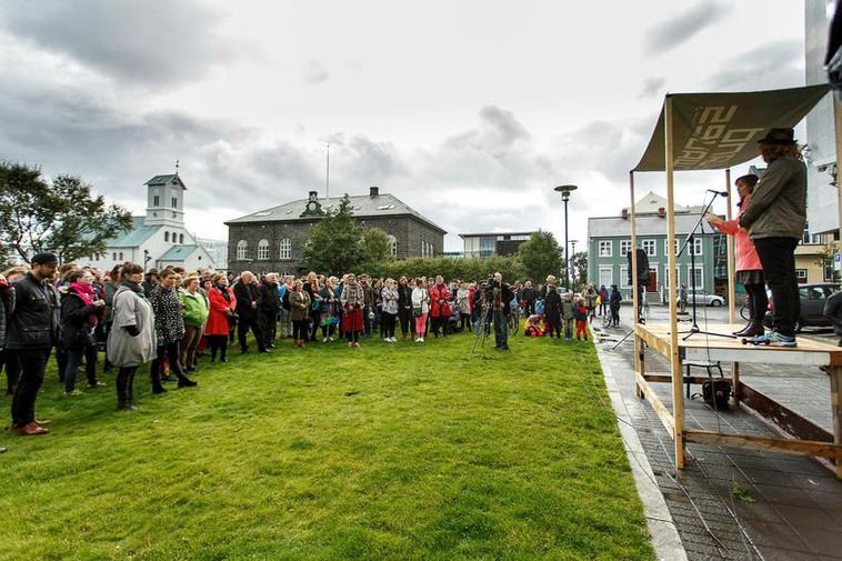 The gathering will take place at Austurvöllur, in front of the Icelandic parliament.