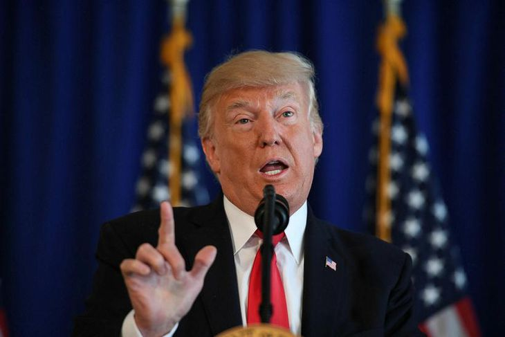 Donald Trump ræddi um átökin á blaðamannafundi.