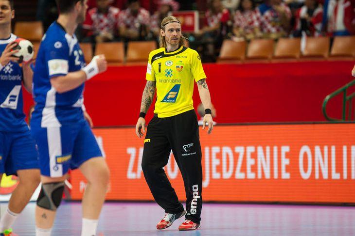 Björgvin Páll Gústavsson í leiknum í dag.