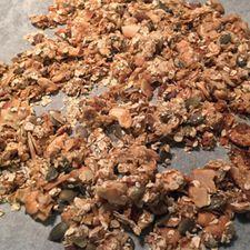 Gómsætt heimagert múslí með trönuberjum
