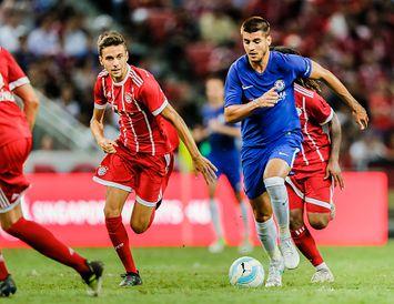 Álvaro Morata spilaði sinn fyrsta leik fyrir Chelsea í dag.