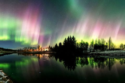 Stephane Vetter made this stunning video of northern lights above Þingvellir in March.