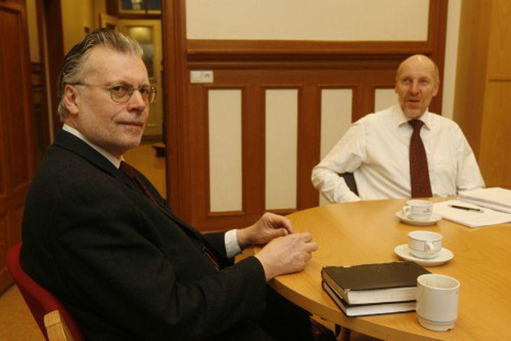 Ögmundur Jónaason, þingflokksformaður og Steingrímur J. Sigfússon, formaður VG