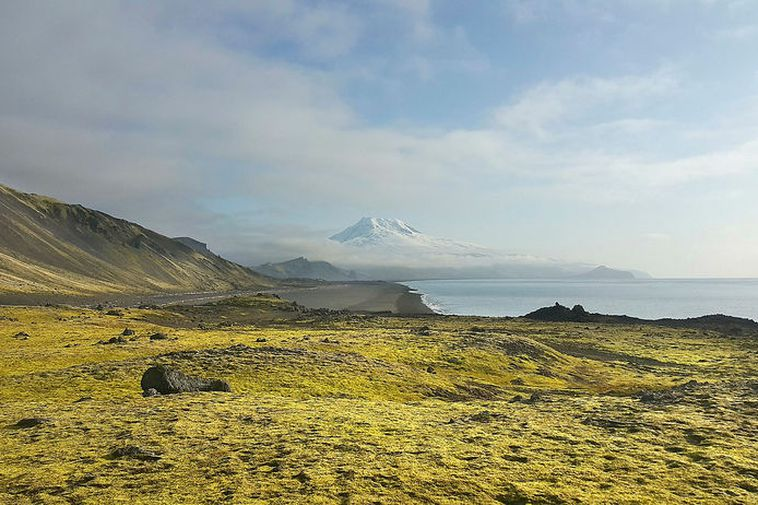 The Norwegian volcanic island of Jan Mayen.