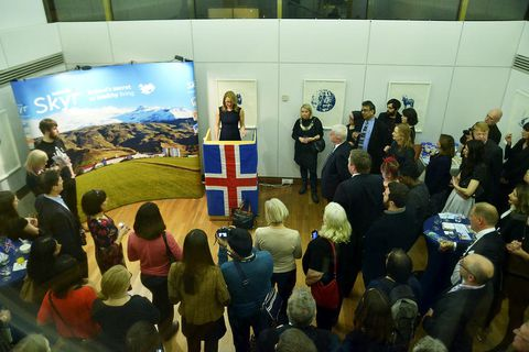 Around 150 people attended an Embassy reception last night to celebrate skyr.