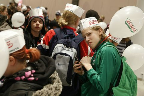 Hundreds wait in line for Krispy Kreme to open in Iceland