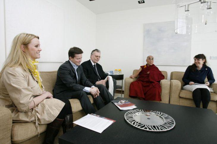 Ráðherrar og þingmenn áttu fund með Dalai Lama á þriðjudag.