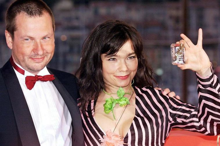 Director Lars Von Trier and Björk at the premiere of the movie Dancer in the ...