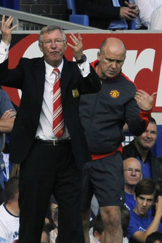 Alex Ferguson ekki hress á svip á Goodison Park í ...
