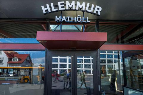 Hlemmur Mathöll is the new food hall at Hlemmur square, a former bus terminal.