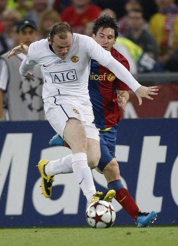 Waynie Rooney komst lítið áfram.