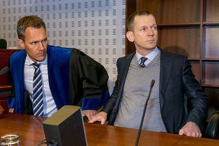 Hreiðar Már Sigurðsson ásamt verjanda sínum Herði Felix Harðarsyni.