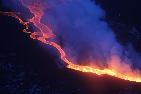 The volcanic eruption in Holuhraun.