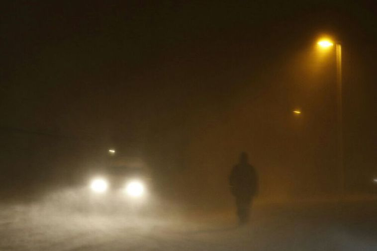 The weather in Akureyri this morning.
