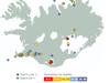 Skjálftahrina mældist norðaustan við Fagradalsfjall á Reykjanesskaga, um fjóra kílómetra suðvestan af Keili, í morgun.