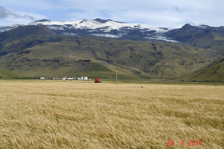 Eyjafjallajökull í lok ágúst 2014.